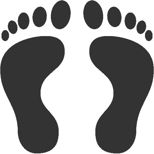 Footprints clipart human footprint. Free download clip art