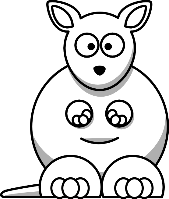 Kangaroo clipart foot. Cute drawing panda free