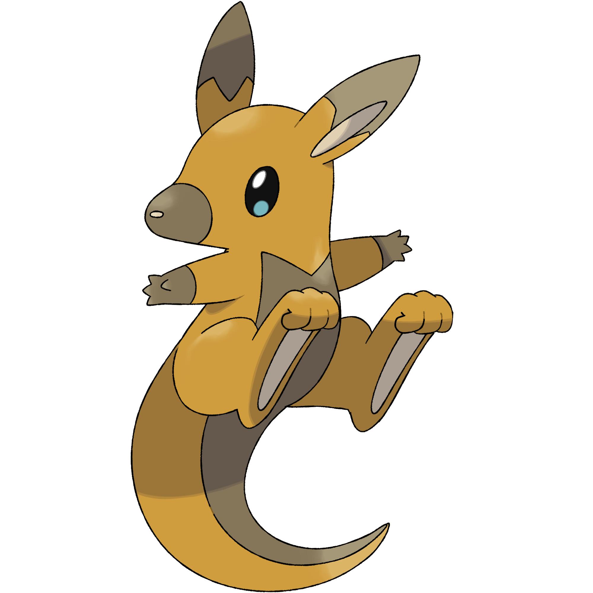 Footprint clipart kangaroo. Wallabound darkandwindie fakemon wiki
