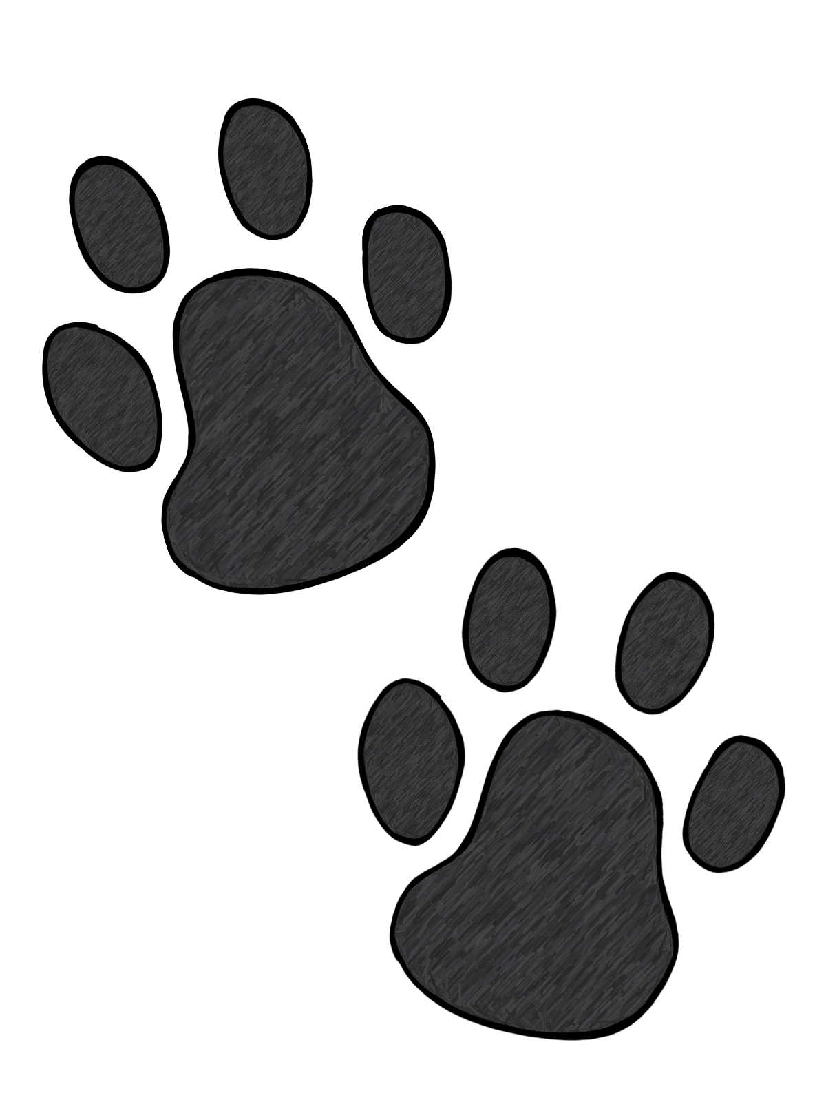 Footprints clipart panther. Free image paw print