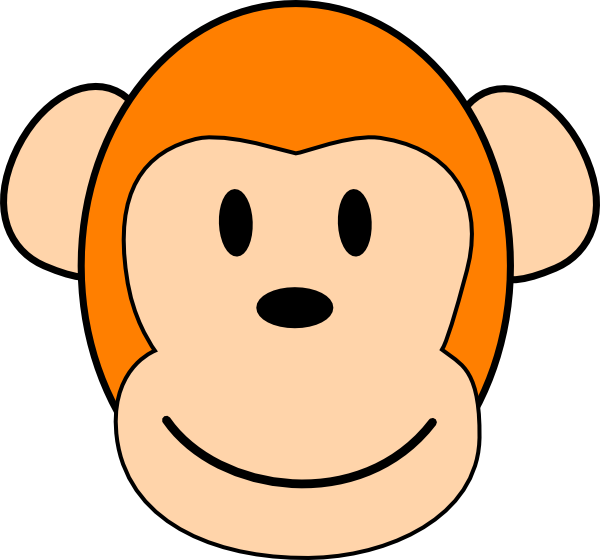 Orange clip art at. Footprint clipart monkey