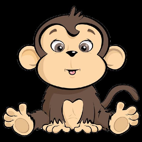 Footprint clipart monkey. Animated baby cartoon monkeys