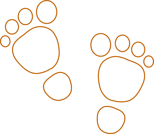 Footprint clipart monkey. Footprints clip art at