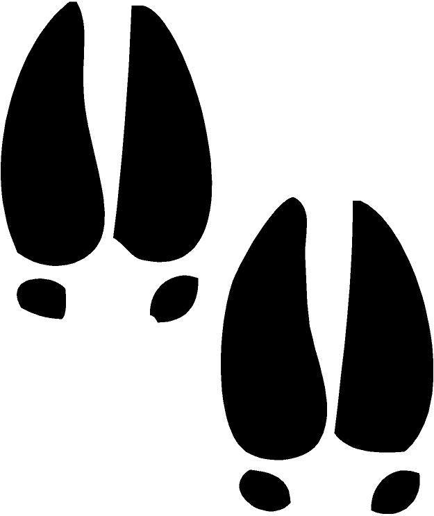 Free tracks cliparts download. Moose clipart footprint