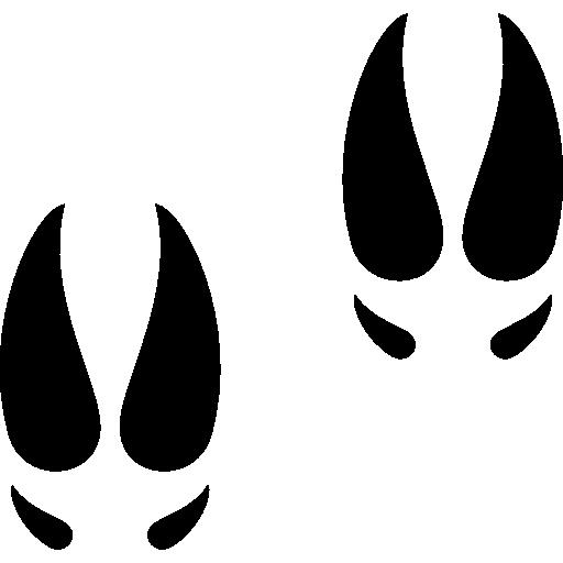Moose clipart footprint. Footprints icons free download