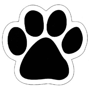 Footprint clipart panda. Dog paw print clip