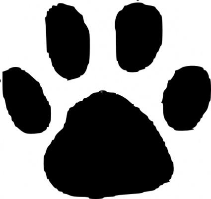 Free images . Footprint clipart panda