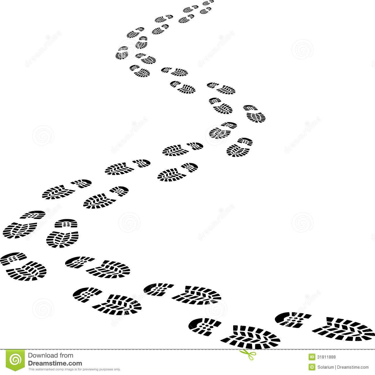 Footprints or are the. Footsteps clipart path