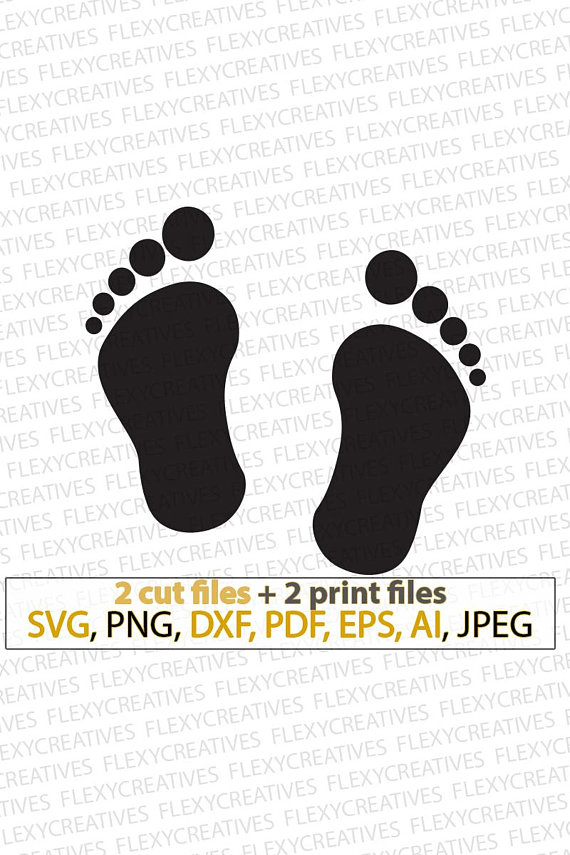 Baby footprints svg prints. Footsteps clipart vector