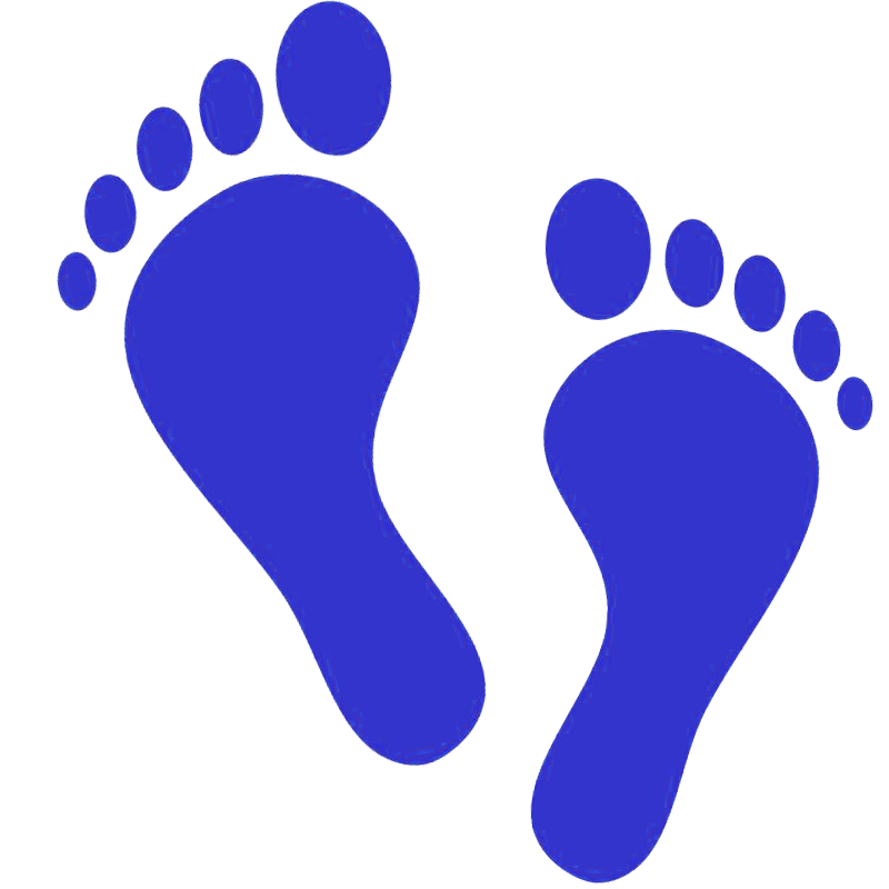 Footprints colored