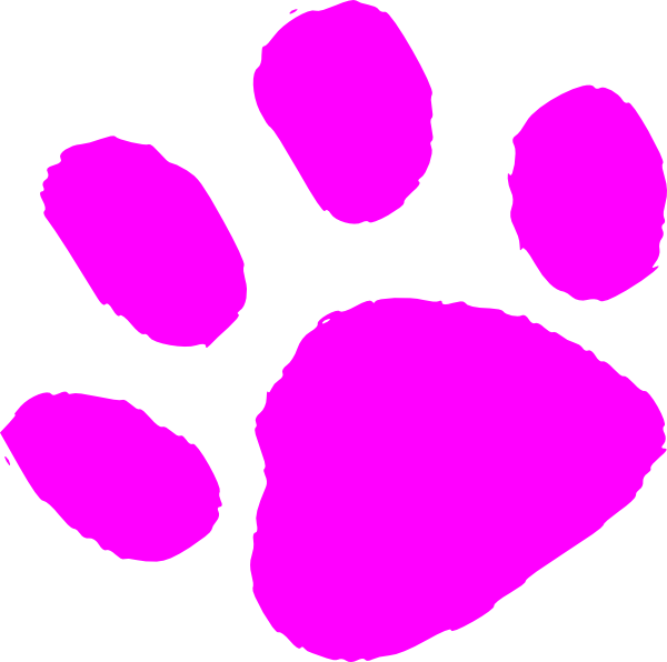 Paw clipart large. Pink print clip art