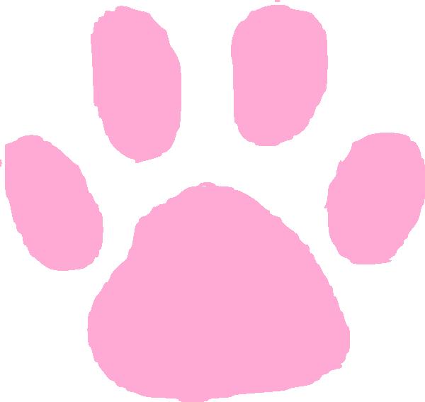 Pink paw print clip. Pawprint clipart animal