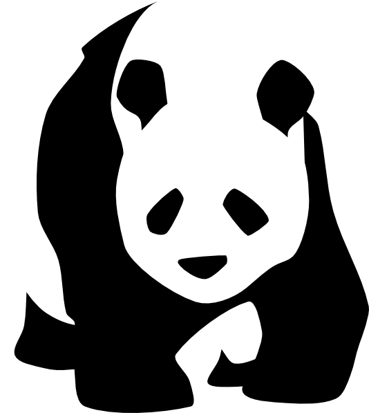 Mittens clipart traceable. Panda clip art at