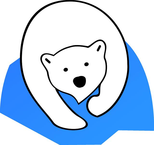 Melting ice caps by. Footprint clipart polar bear