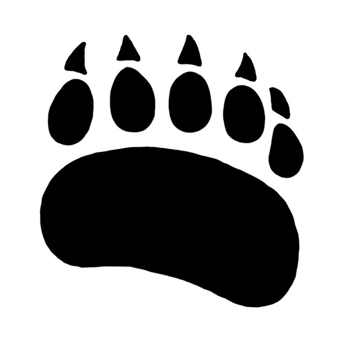 Paw prints pictures the. Footprint clipart polar bear