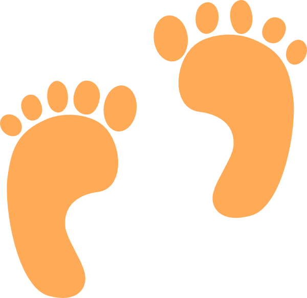 Footprints clip art at. Infant clipart footprint