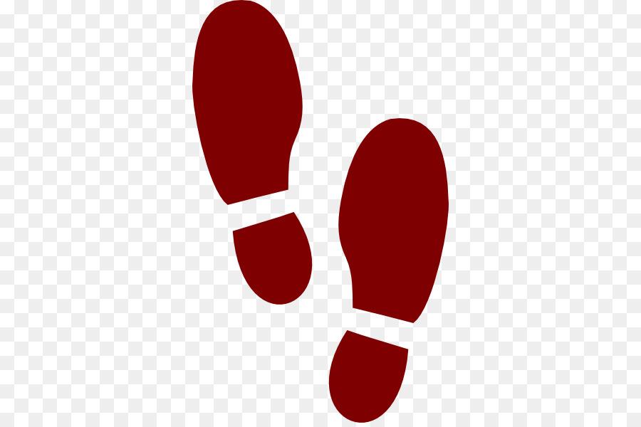 Circle line transparent clip. Footprint clipart red
