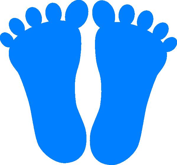 Clip art at clker. Footprints clipart blue