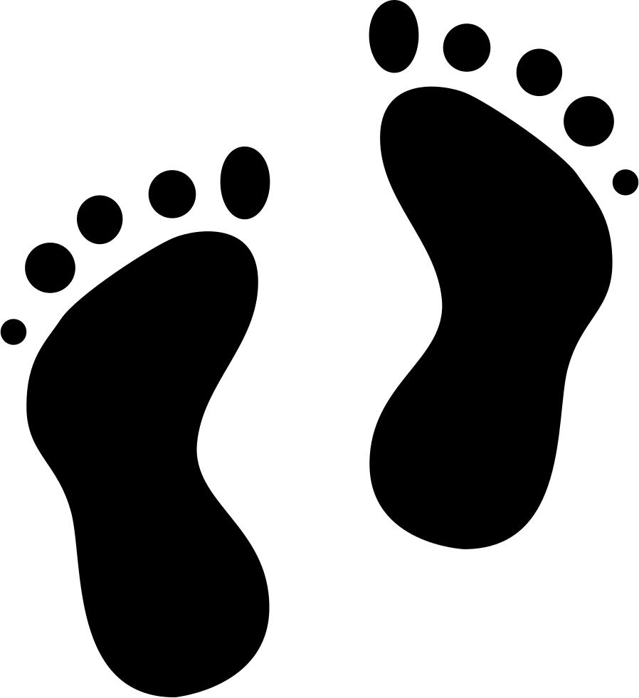 Footprints svg png icon. Footsteps clipart left footprint