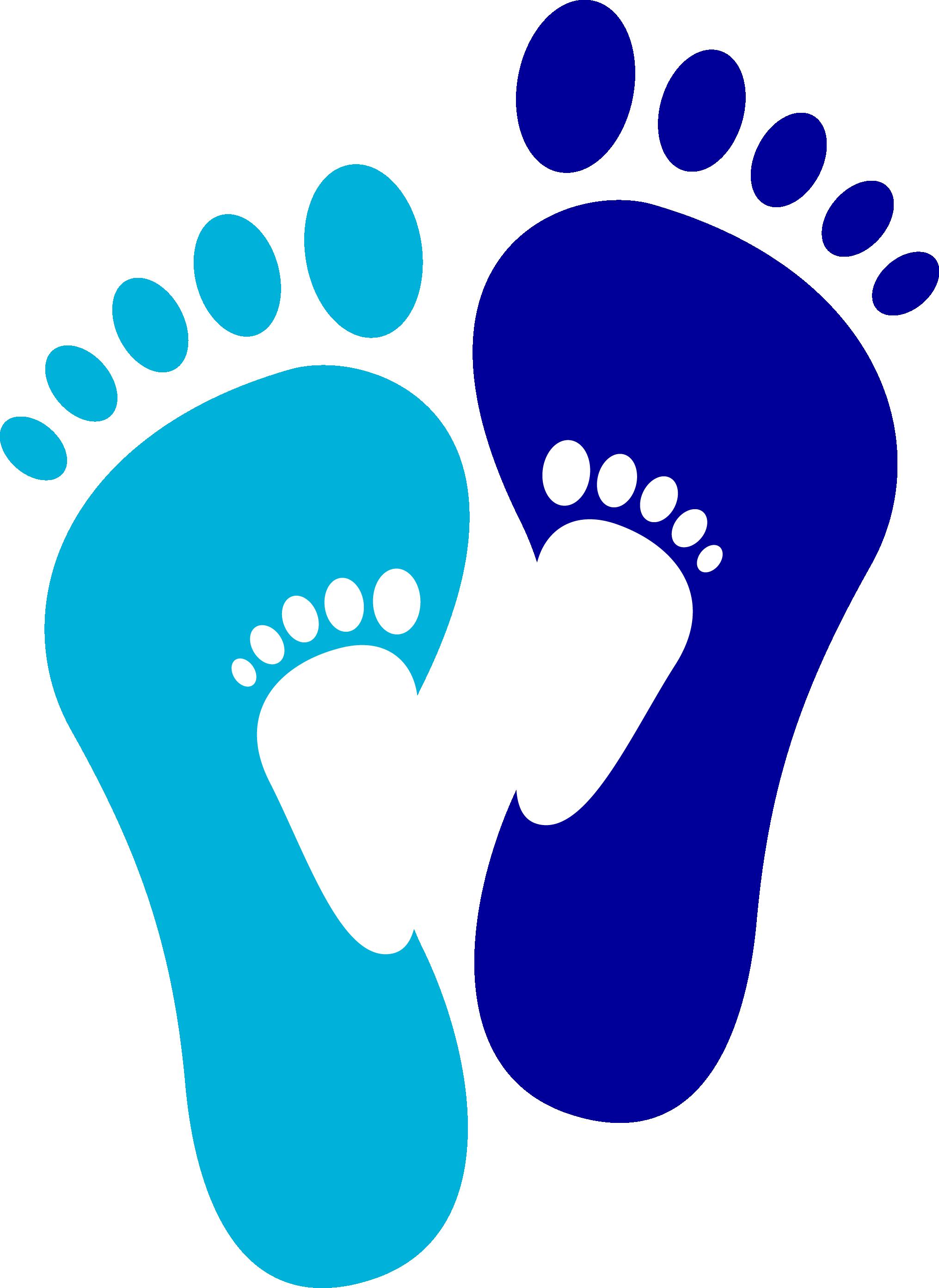 Footprint euclidean vector graphic. Footprints clipart blue