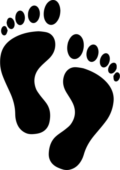 Footsteps clipart transparent background. Download footprints free png