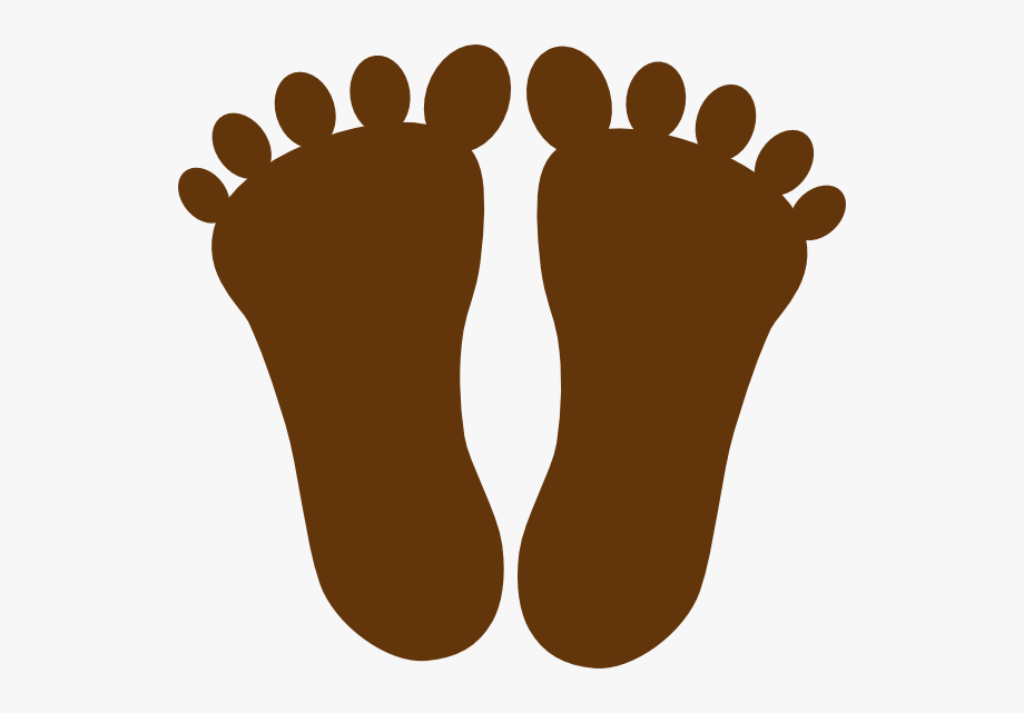 Footprint clipart travel. Brown free cliparts on