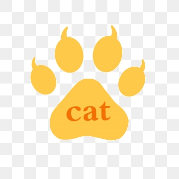 Footprint clipart vector. Cat png psd and