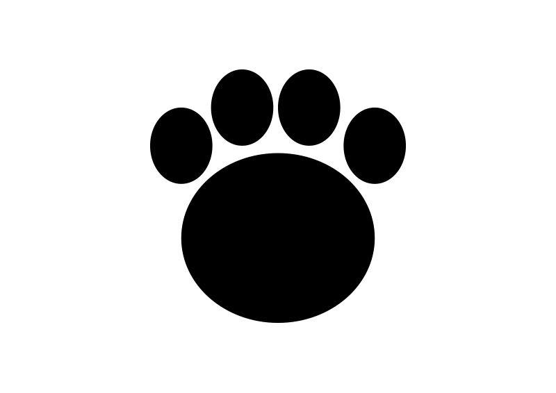 Bear simple icons . Footprint clipart vector