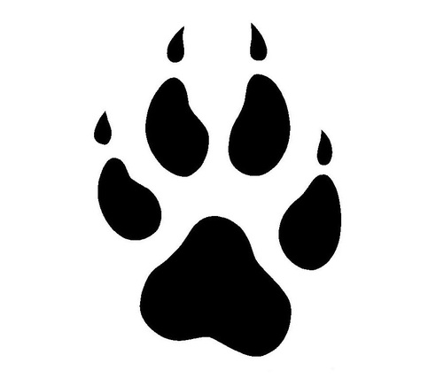 Pawprint clipart wolf. Free paw print download