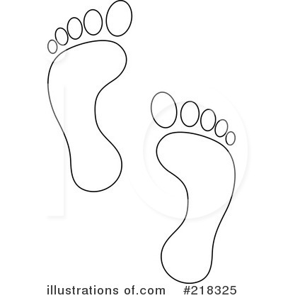 Footprint coloring page illustration. Footprints clipart