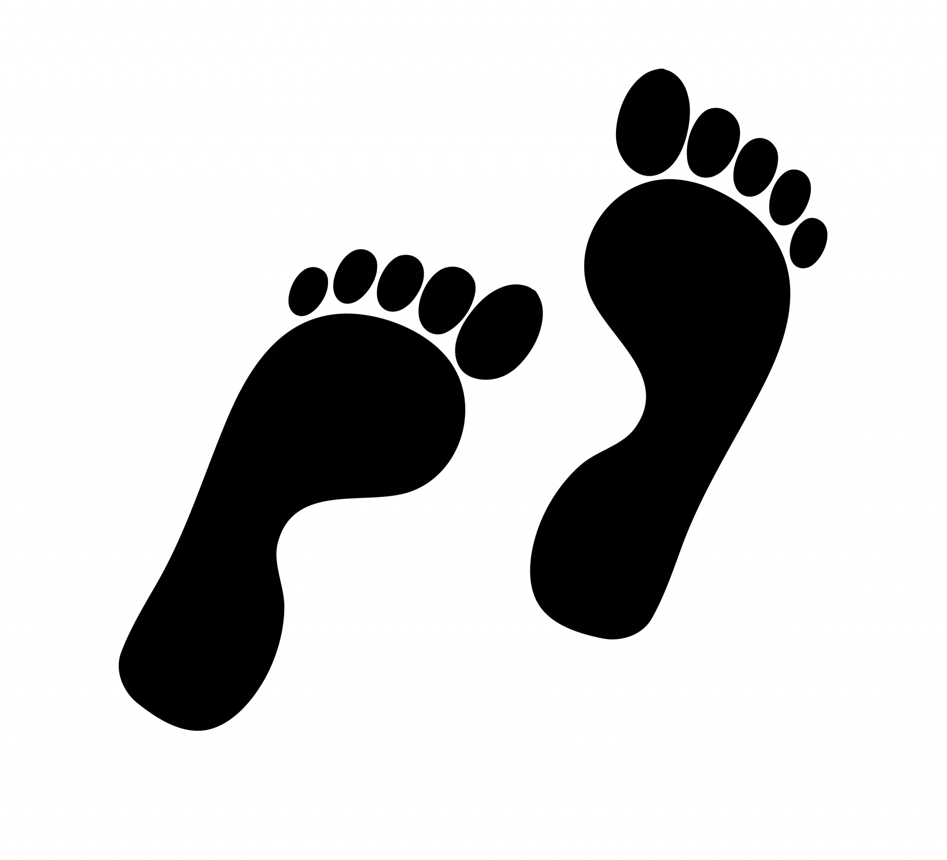 Silhouette free stock photo. Footprints clipart
