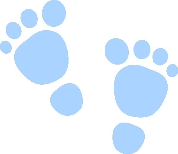Foot prints clip art. Footprints clipart blue