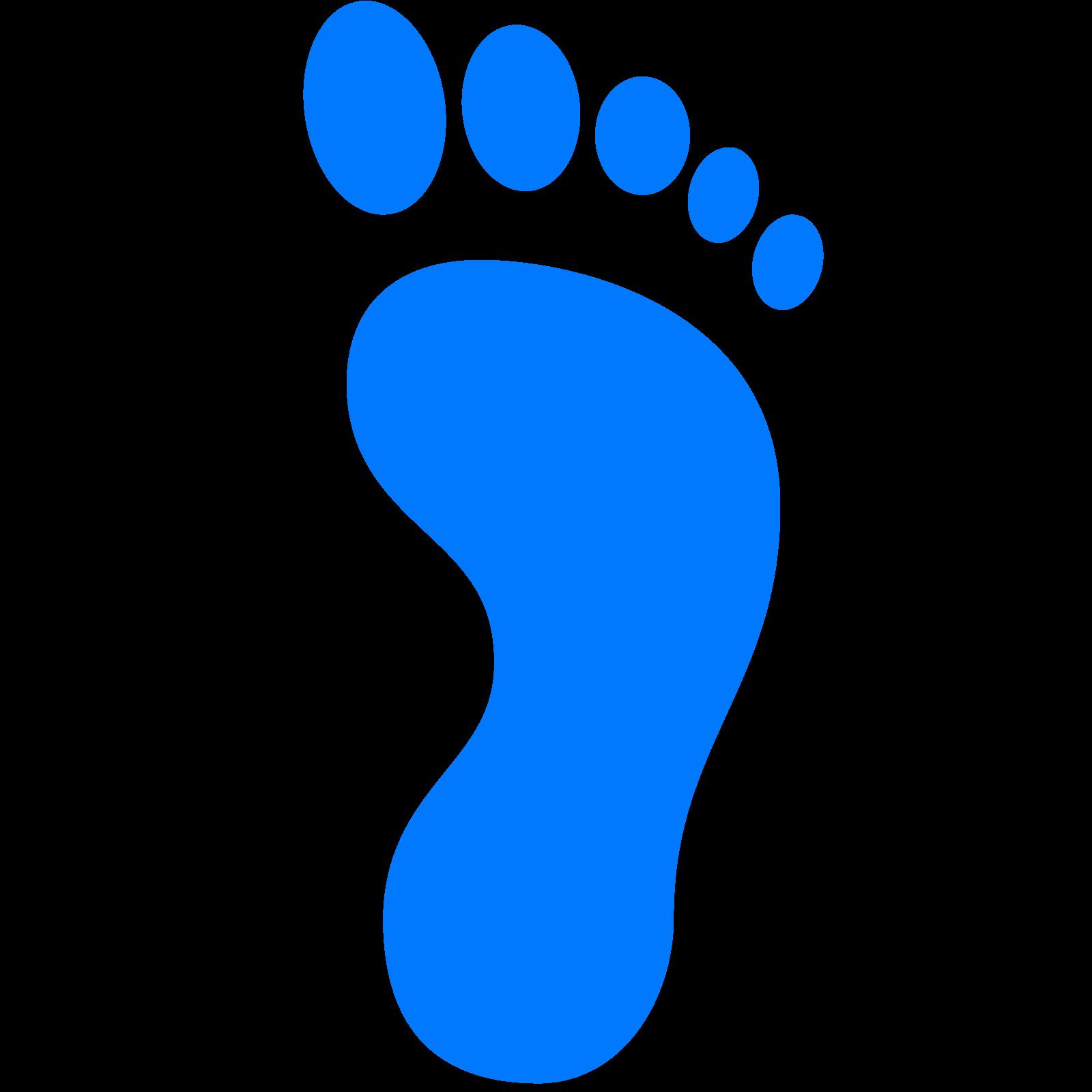 Footprints clipart blue. Computer icons footprint clip