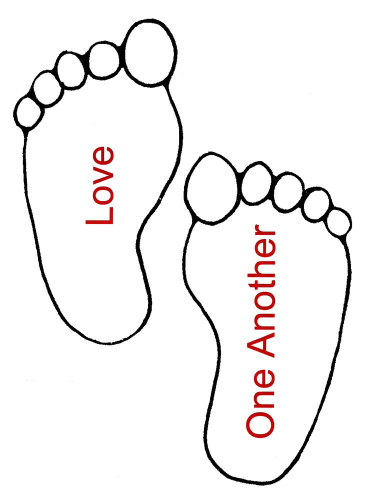 Pages of footprint best. Footprints clipart coloring page