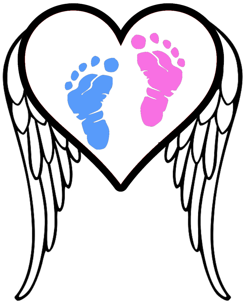 Infant clipart footprint. Pregnancy and loss awareness