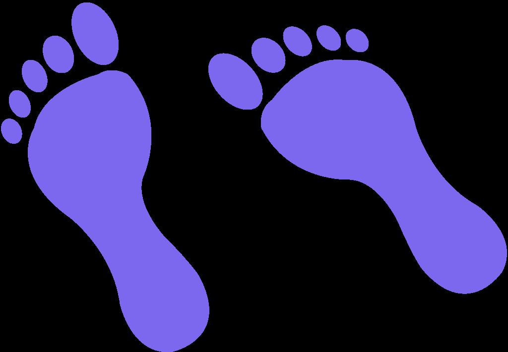 Footprints clipart purple. Domiciliary service zoe hyde