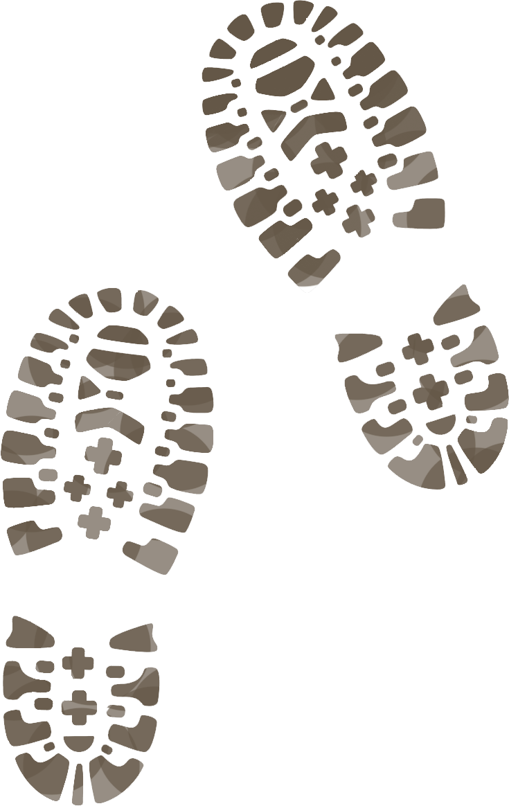 Footsteps clipart snow footprint.  collection of muddy