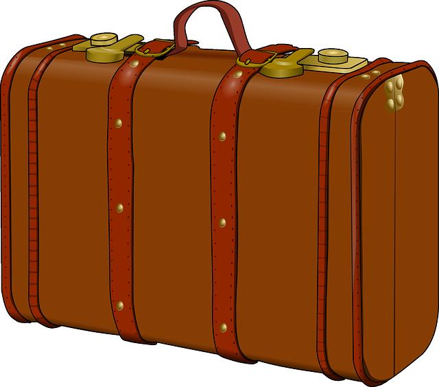 Stamp clipart luggage.  suitcase huge freebie