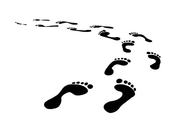 Footprints clipart vector. Footprint graphics collection my