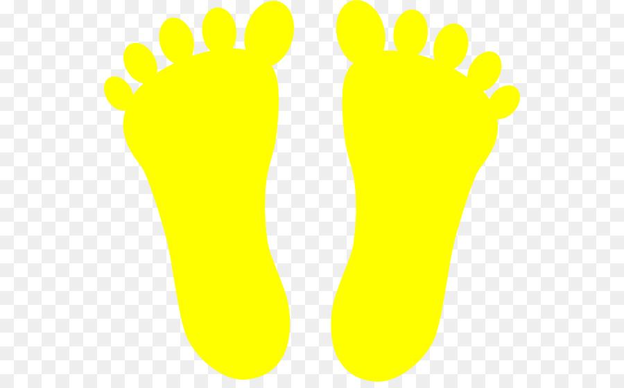 Footprint yellow clip art. Footsteps clipart