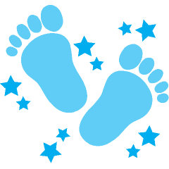 Footprints free download best. Footsteps clipart baby boy