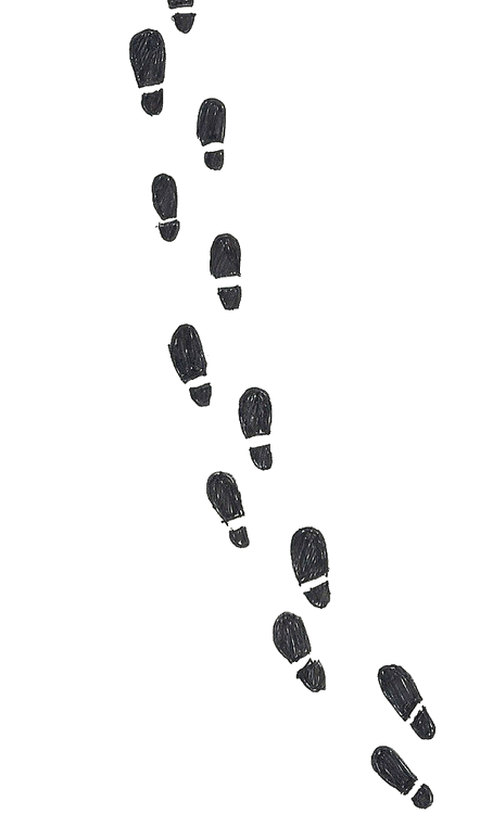 Footsteps clipart black and white. Maraudersmap knightbus report abuse