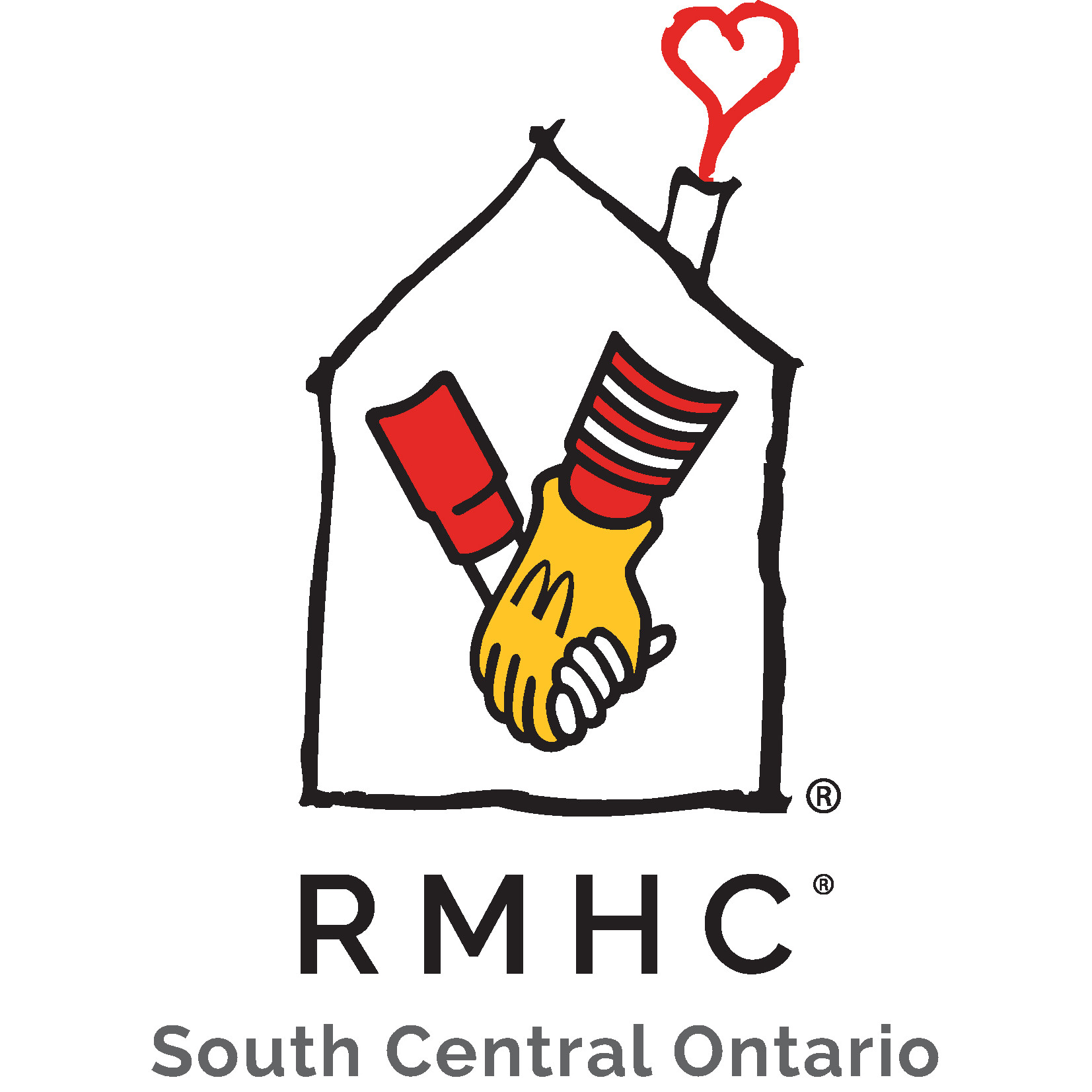 Donate to rmhc south. Footsteps clipart far away