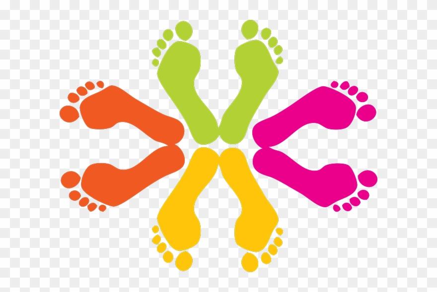 Banner transparent download png. Footsteps clipart foot design