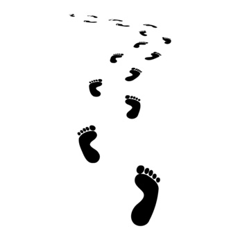 Free foot steps download. Footsteps clipart one step at time