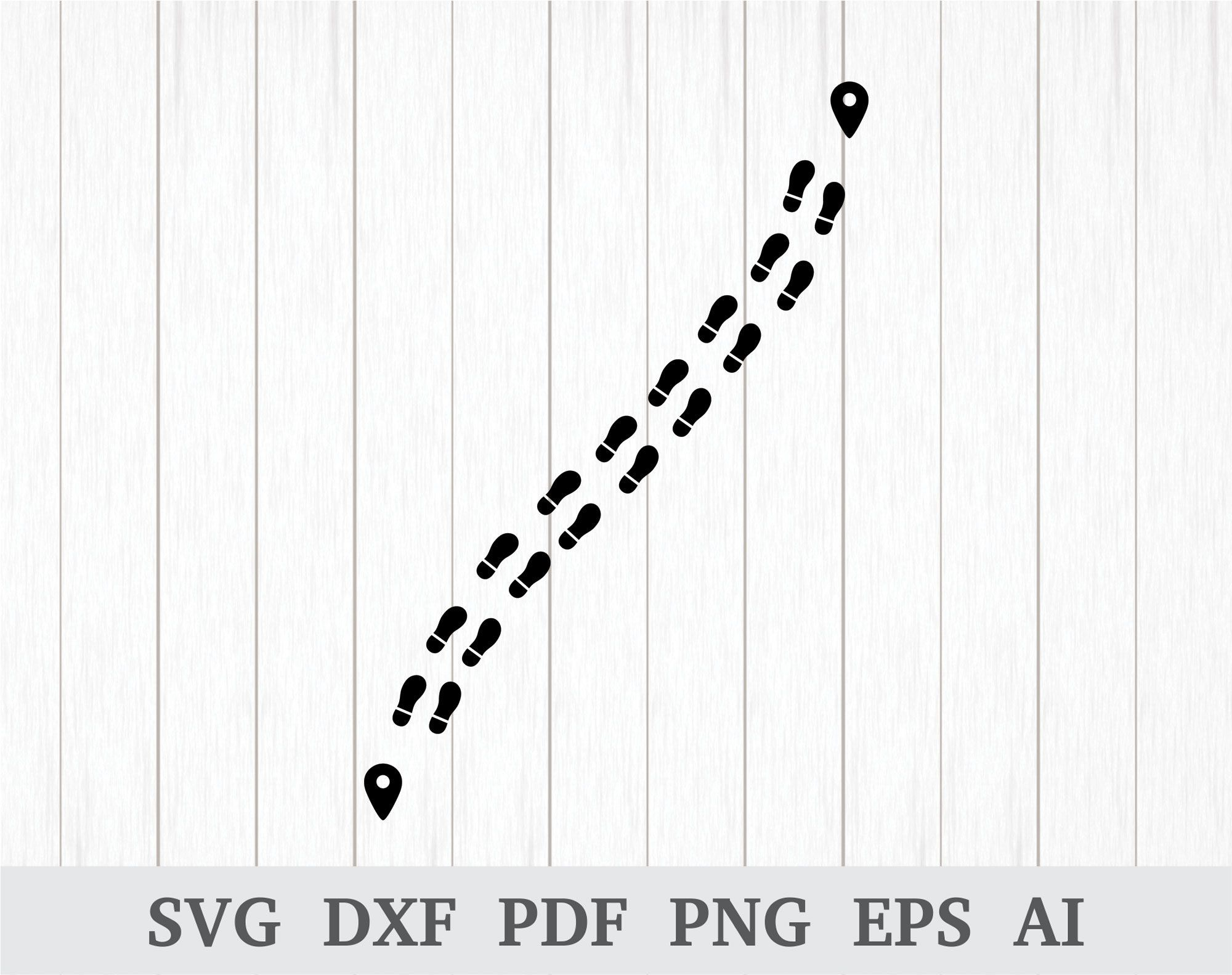 Footsteps clipart path. Pin on svg