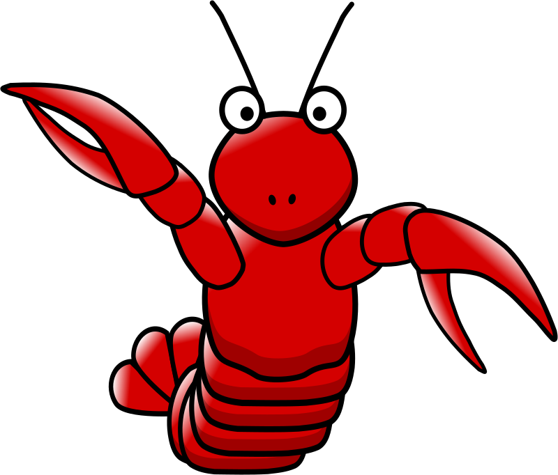 Footsteps hanslodge cliparts . Lobster clipart easy cartoon