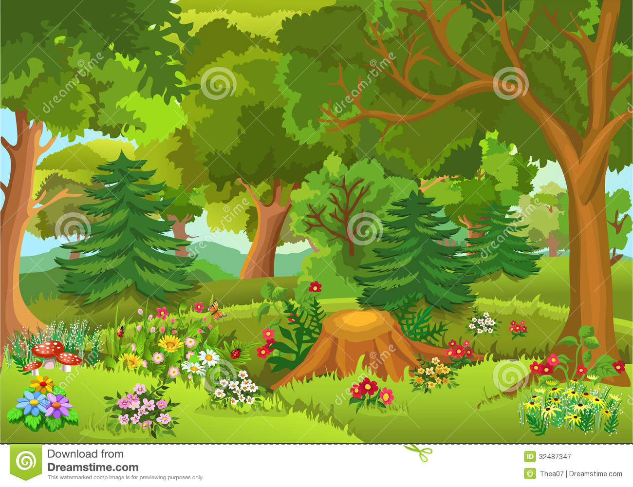Fairy tale . Forest clipart