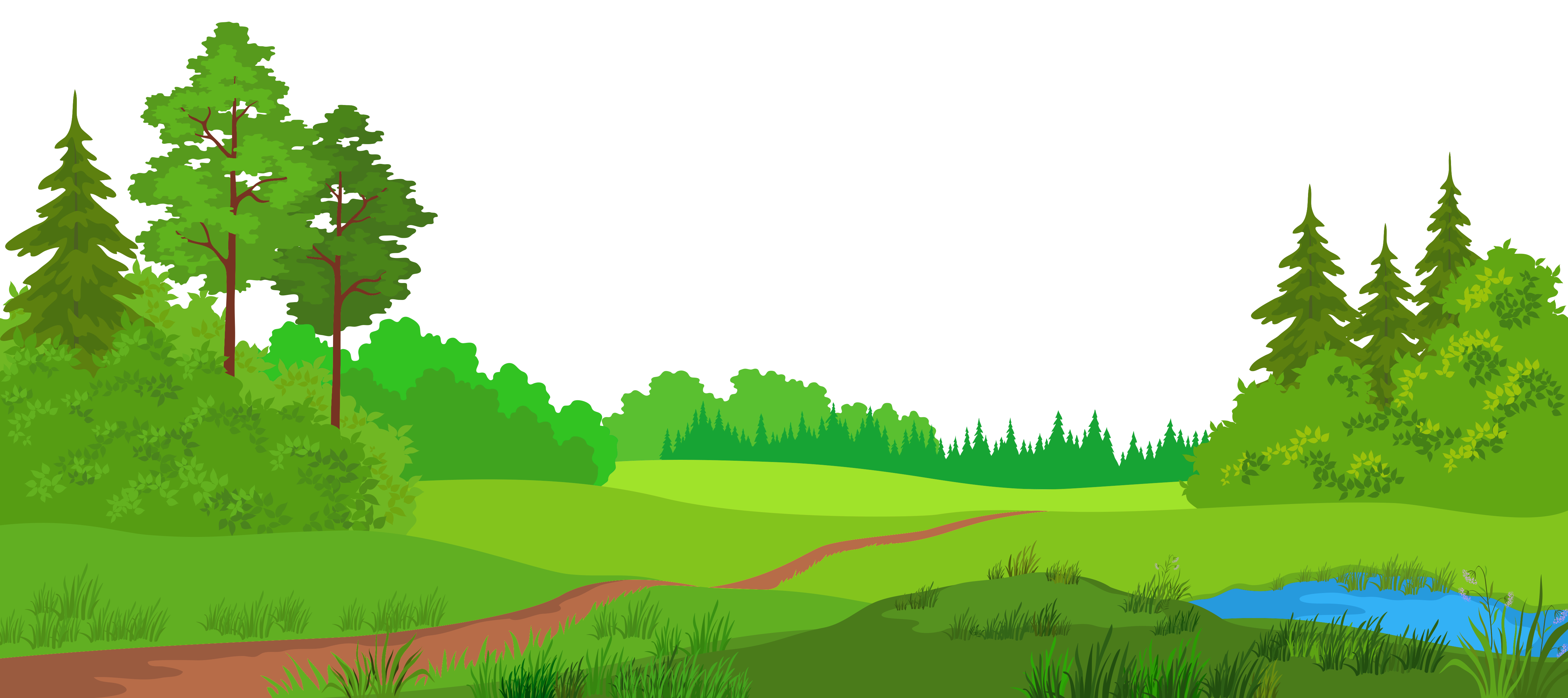 Meadow clip art with. Land clipart grassland biome