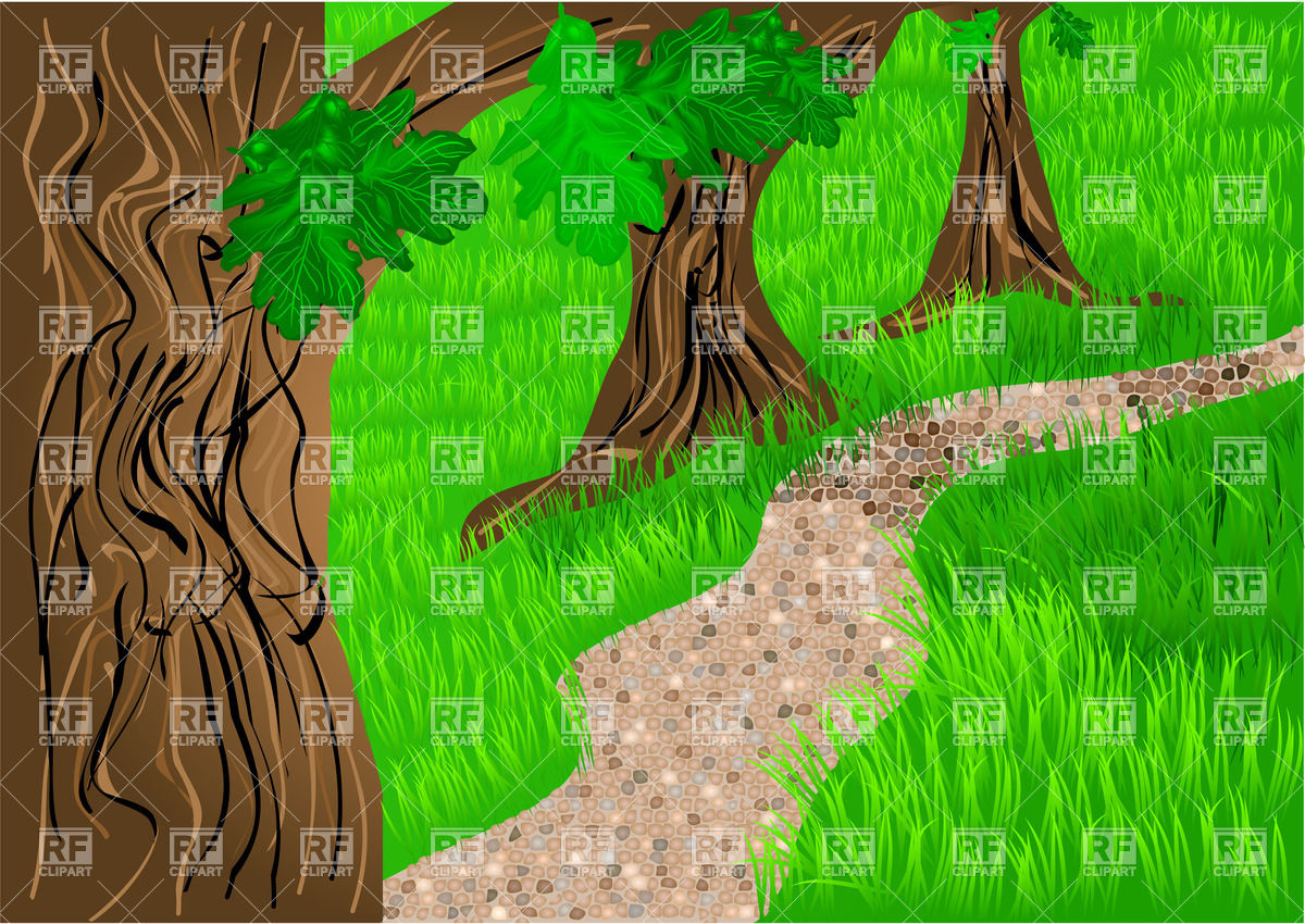 Portal . Forest clipart forest path